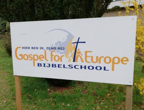 Evangeliseren met Bijbelschool Gospel for Europe