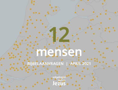 12 mensen ontvangen een Bijbel in april